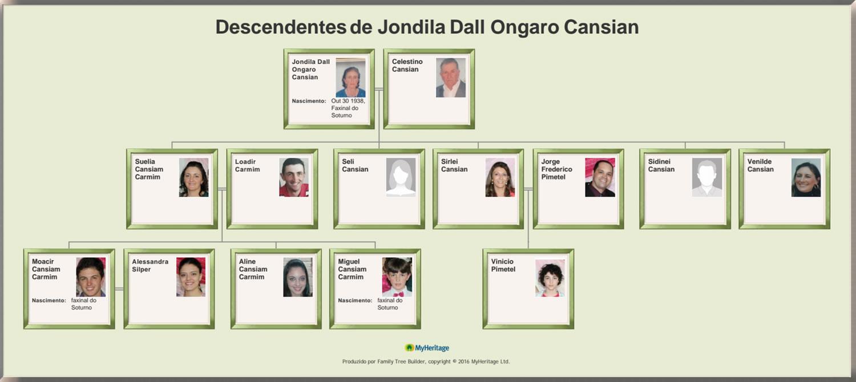 Descendentes de Jondila Dall Ongaro Cansian