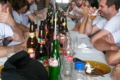 Família de Antonio Stona no almoço