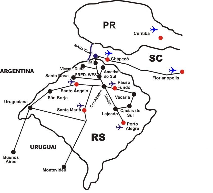Mapa Segundo Encontro Família Stona