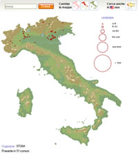 Presença Família Stona na Itália