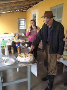Sobremesa pelo aniversário de 70 anos do Guilhermino.