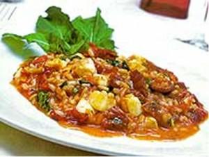 Risoto Tomate Seco, Rúcula e Mussarela